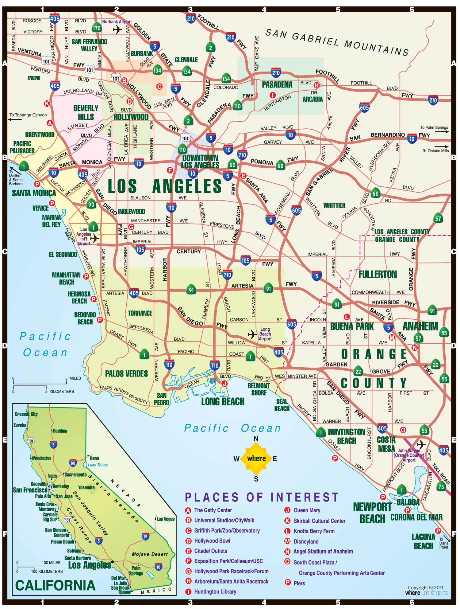 LA Map | Where Magazine Los Angeles Map