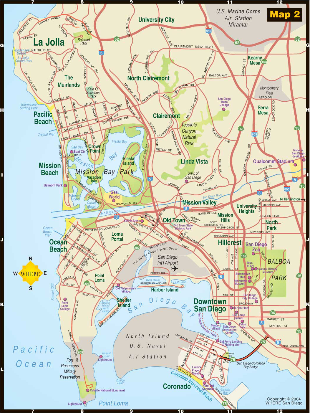 SAN DIEGO MAP | New Hd Template İmages SAN DIEGO MAP