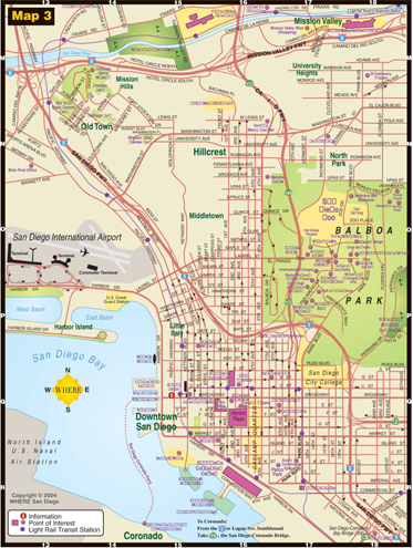 small map of Downtown San Diego