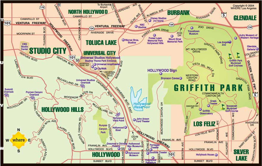 griffith park hiking trails map with Hollywood on Easy Hollywood Sign Hike likewise First Landing State Park besides Mt Hollywood Trail further Challenger Seven Memorial Park Boardwalk Trail also Easy Hollywood Sign Hike.