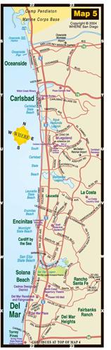 small map of Oceanside + Carlsbad + Encinitas + Del Mar