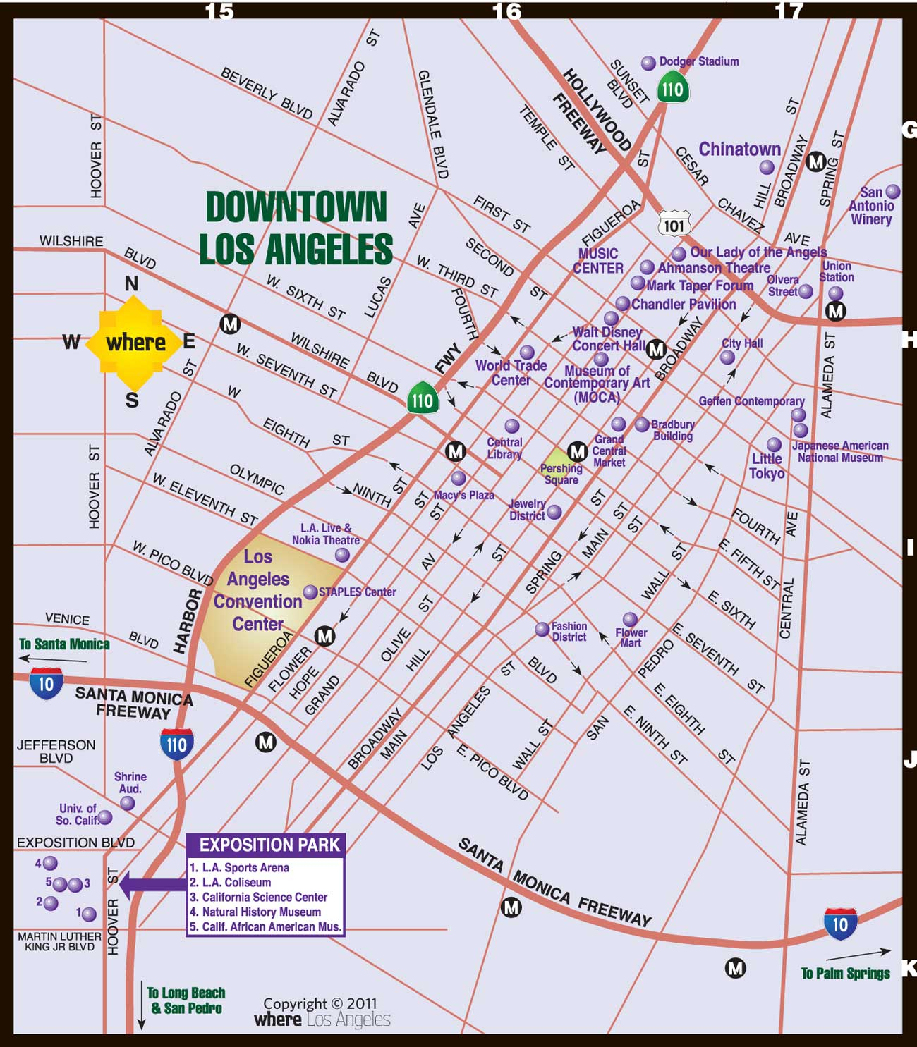 Atlas What To Do In Los Angeles Map – Tourist Map Of Los Angeles
