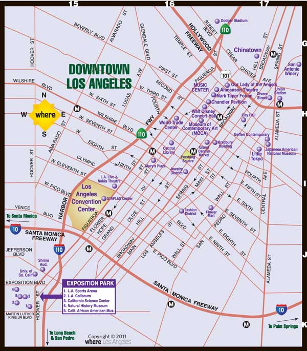 image relating to Printable Map of Los Angeles named Downtown LA Map Exactly where Journal Downtown Los Angeles Map