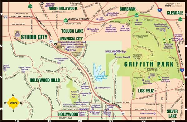 hollywood map EFBK – Hollywood Tourist Map