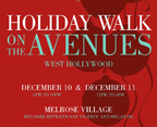Holiday Walk on the Avenues in West Hollywood