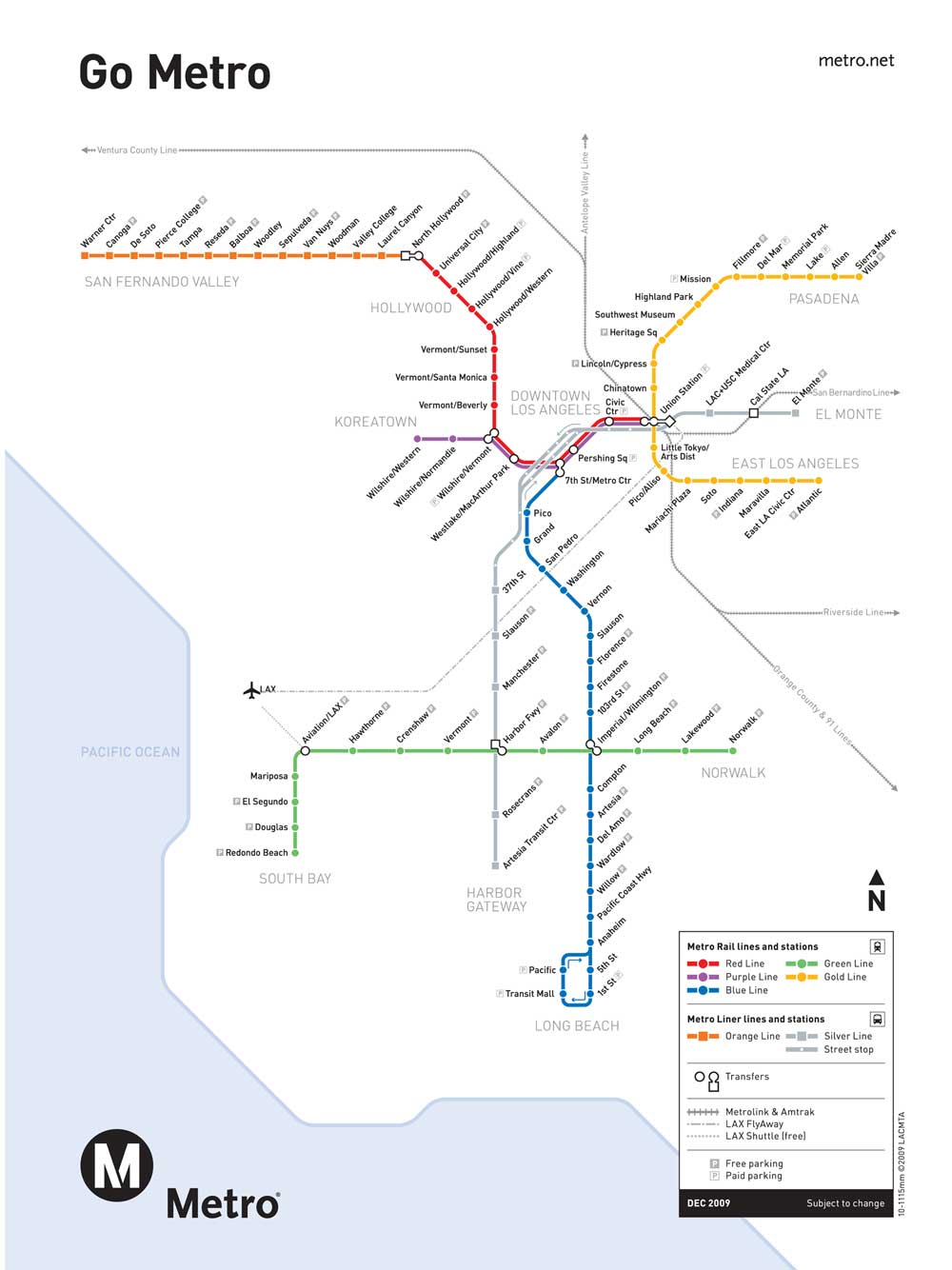 La Metro Map LA Metro Map La Metro Map