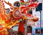 Chinatown golden dragon parade