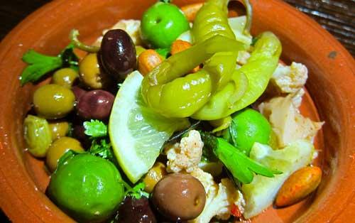 smoke oil salt olives