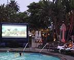 Starry Night Poolside Cinema