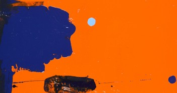 Nice_blue_on_big_orange_background_with_light_blue_blob_in_middle_painting_FEATURED