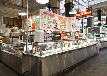 Food stall at Grand Central Market.