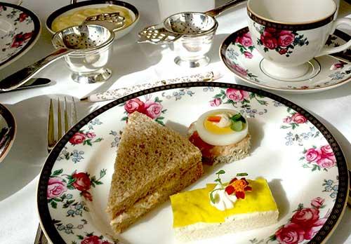 Langham Pasadena high tea plate