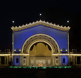 Spreckels-Organ-frontal-blue-at-night.-Credit-Bob-Lang