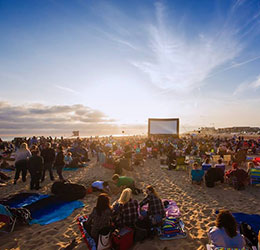 beachfront cinema