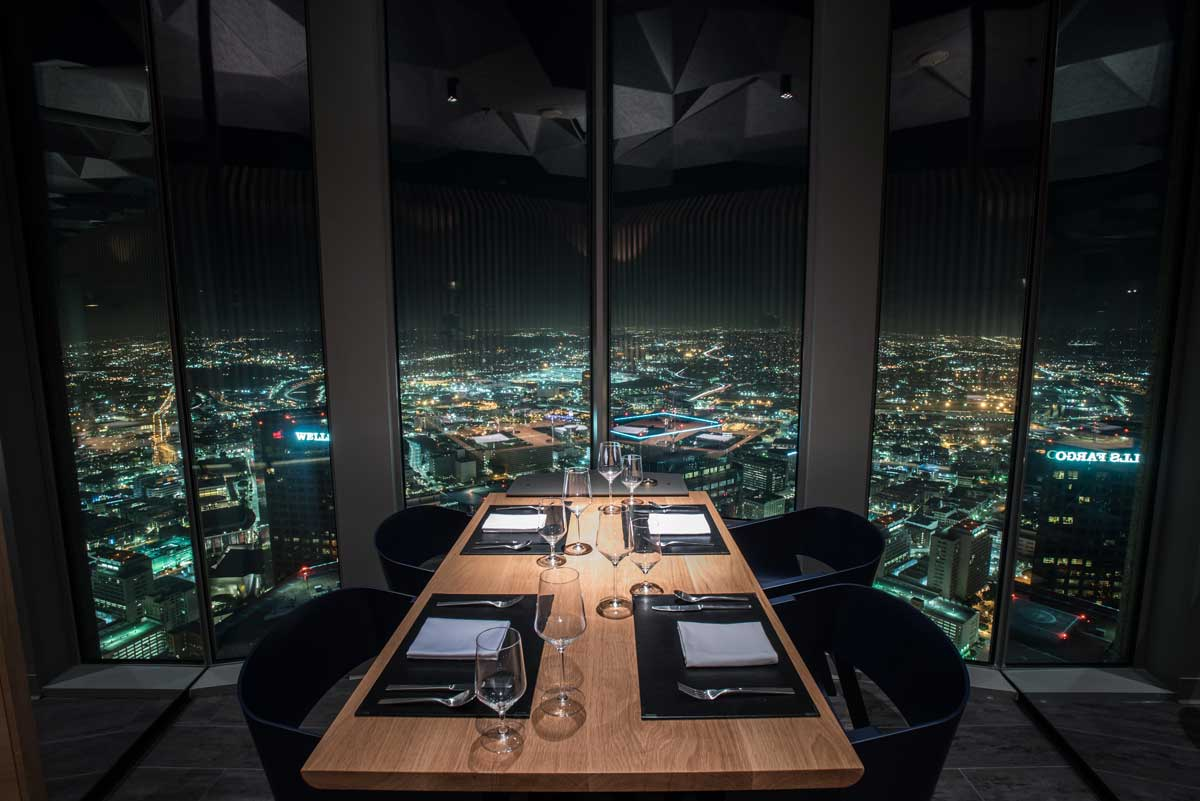 Restaurant In Downtown La With View