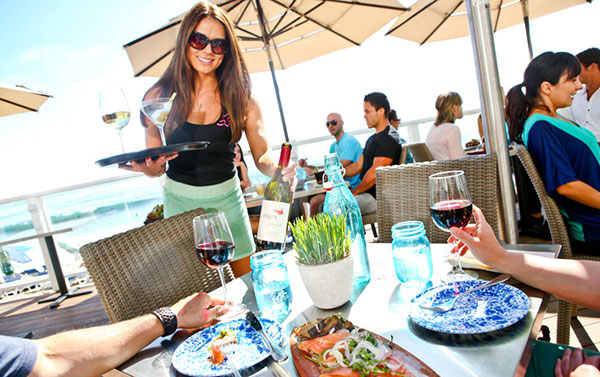 The Deck on Laguna Beach specializes in fresh seafood and creative cocktails