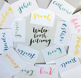 water-brush-lettering