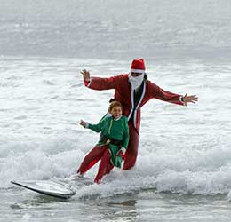 The Ritz Carlton Surfing Santa