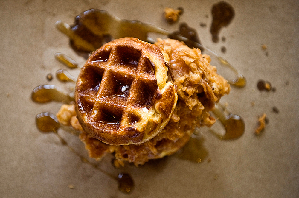 Chicken and Waffles at Lillie's Q