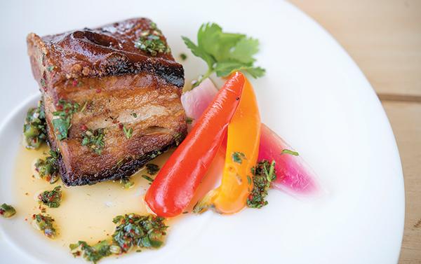Waterman's Harbor braised pork belly