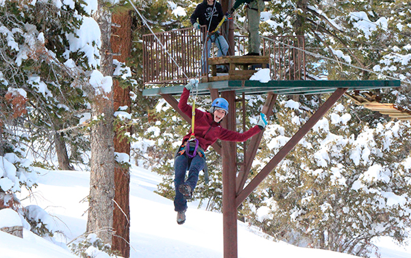 Zip-Lining Big Bear