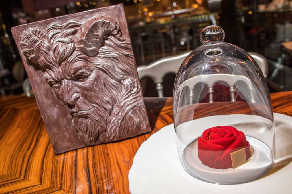 the bazaar by jose andres beauty and the beast rose dessert