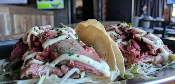 Social Tap Eatery Corned Beef Tacos