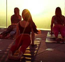 Sunrise Yoga at Skyspace