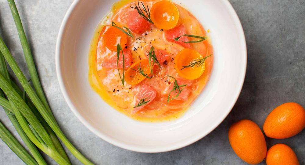 Salmon Crudo Fig & Olive