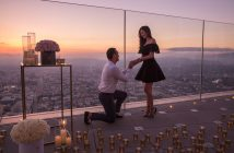Pop the question nearly 1,000 feet above downtown Los Angeles.