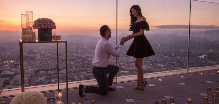 A Proposal Above All at OUE Skyspace LA