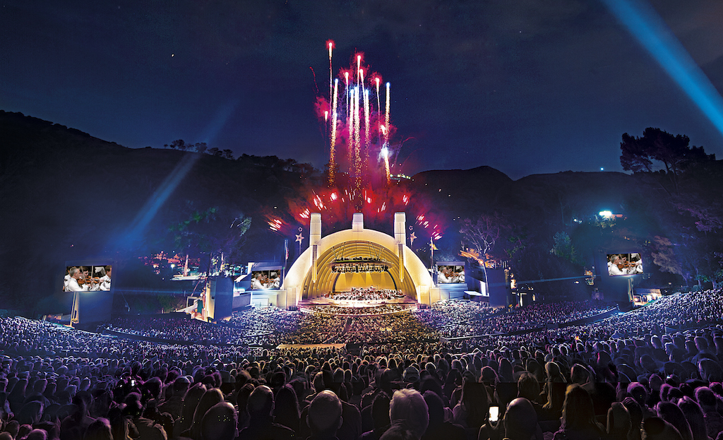 Celebrate Fourth of July under the big blue sky at the Hollywood Bowl. Photo courtesy of the Los Angeles Philharmonic Association.