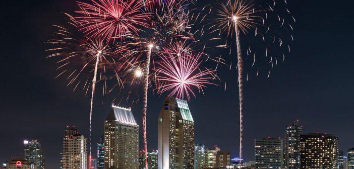 Bayside fireworks at Manchester Grand Hyatt