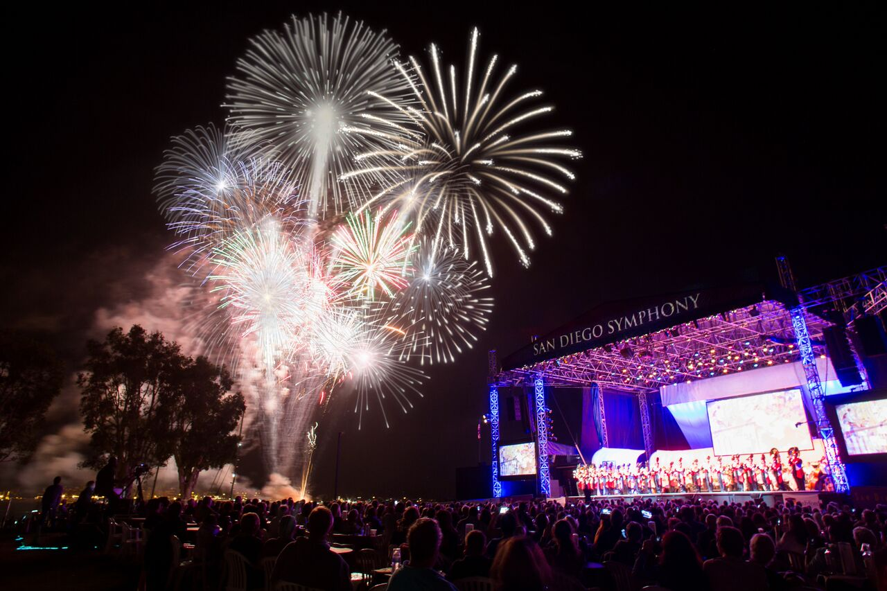 Celebrate Labor Day with a performance by the San Diego Symphony and a spectacular fireworks show.
