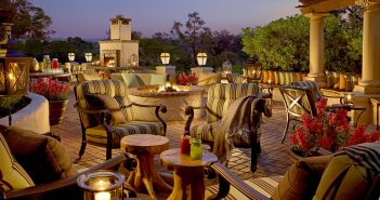 Escape to Rancho Bernardo for an evening of al fresco dining at Veranda Fireside Lounge & Restaurant
