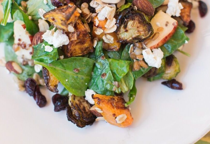 Head to Del Mar to sample Flower Childs new Brussels Squash salad.
