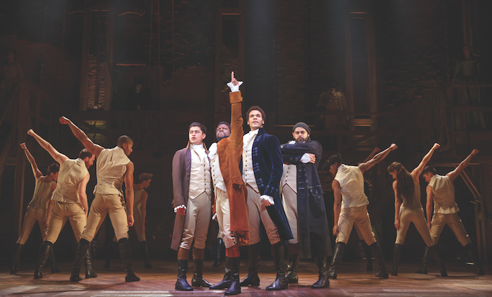 Hamilton Touring Cast photo by Joan Marcus