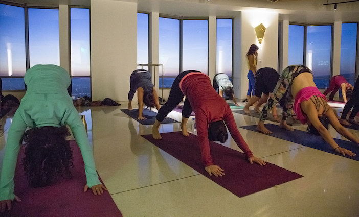 Join Skyspace LA, Airbnb and Evoke Yoga for an unforgettable yoga series above DTLA.