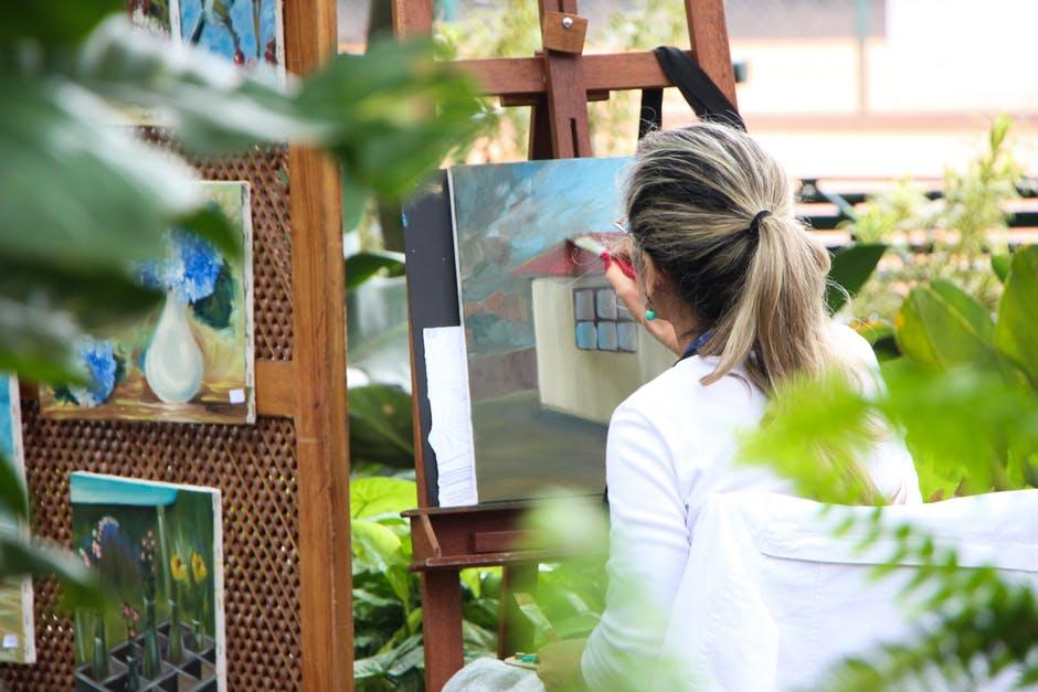 dozen of artists displaying their wares at the Coronado Art Walk.