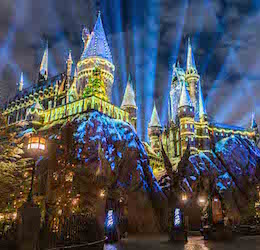 Christmas in the Wizarding World of Harry Potter photo courtesy of Universal Studios Hollywood.