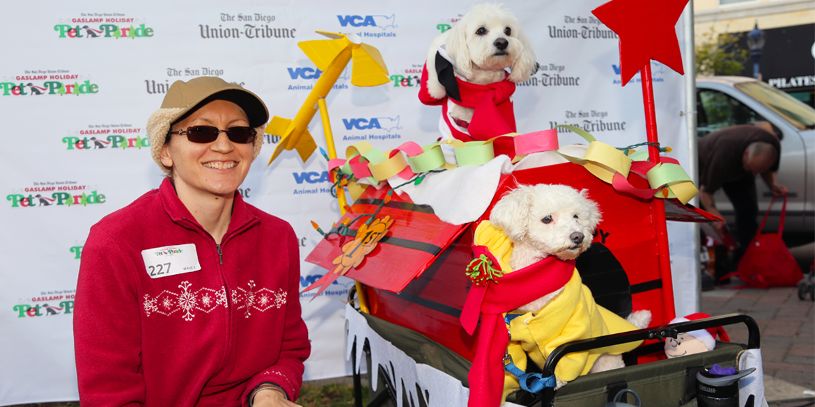 Dress up your pooch and participate in a festive Christmas parade around the Gaslamp.