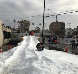 Snow Day at Playa Provisions