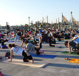 Free Yoga on the Pier photo courtesy of Redondo Beach Chamber of Commerce & Visitors Bureau