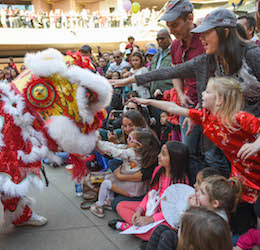 Year of the Dog Celebration photo courtesy of Santa Monica Place