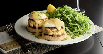 Crab Cake Benedict at Mastro's Ocean Club