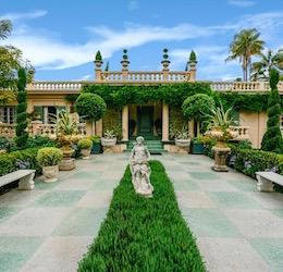Virginia Robinson Gardens Garden Tour Entrance