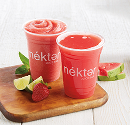 Nékter Juice Bar's Two Watermelon Specials provided by Peacock PR