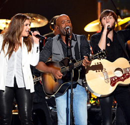 Lady Antebellum and Darius Rucker photo by Ethan Miller Getty Images