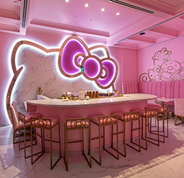 Hello Kitty Grand Cafe photo by Jakob Layman/Sanrio