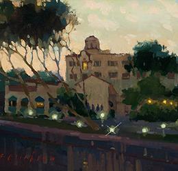 "Laguna Plein Air Painting Invitational – ""Before Sunrise"" painting by Aimee Erickson"